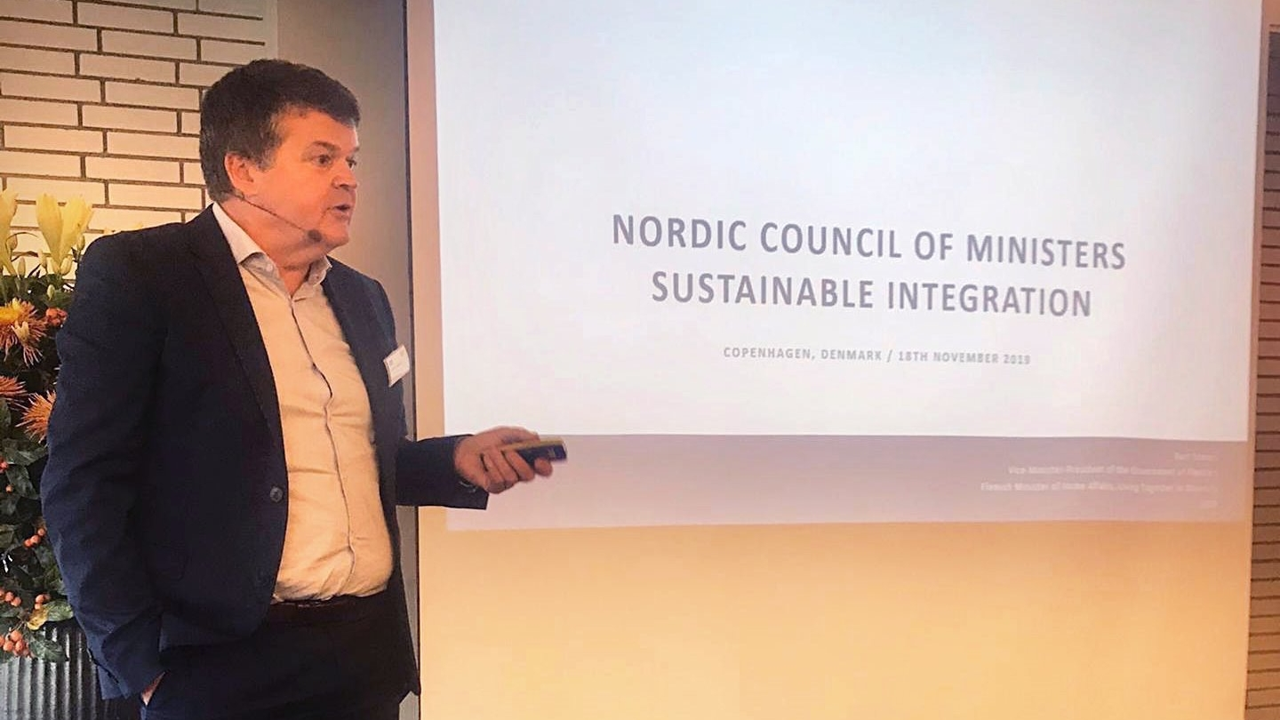 Minister Somers at the  Nordic Council