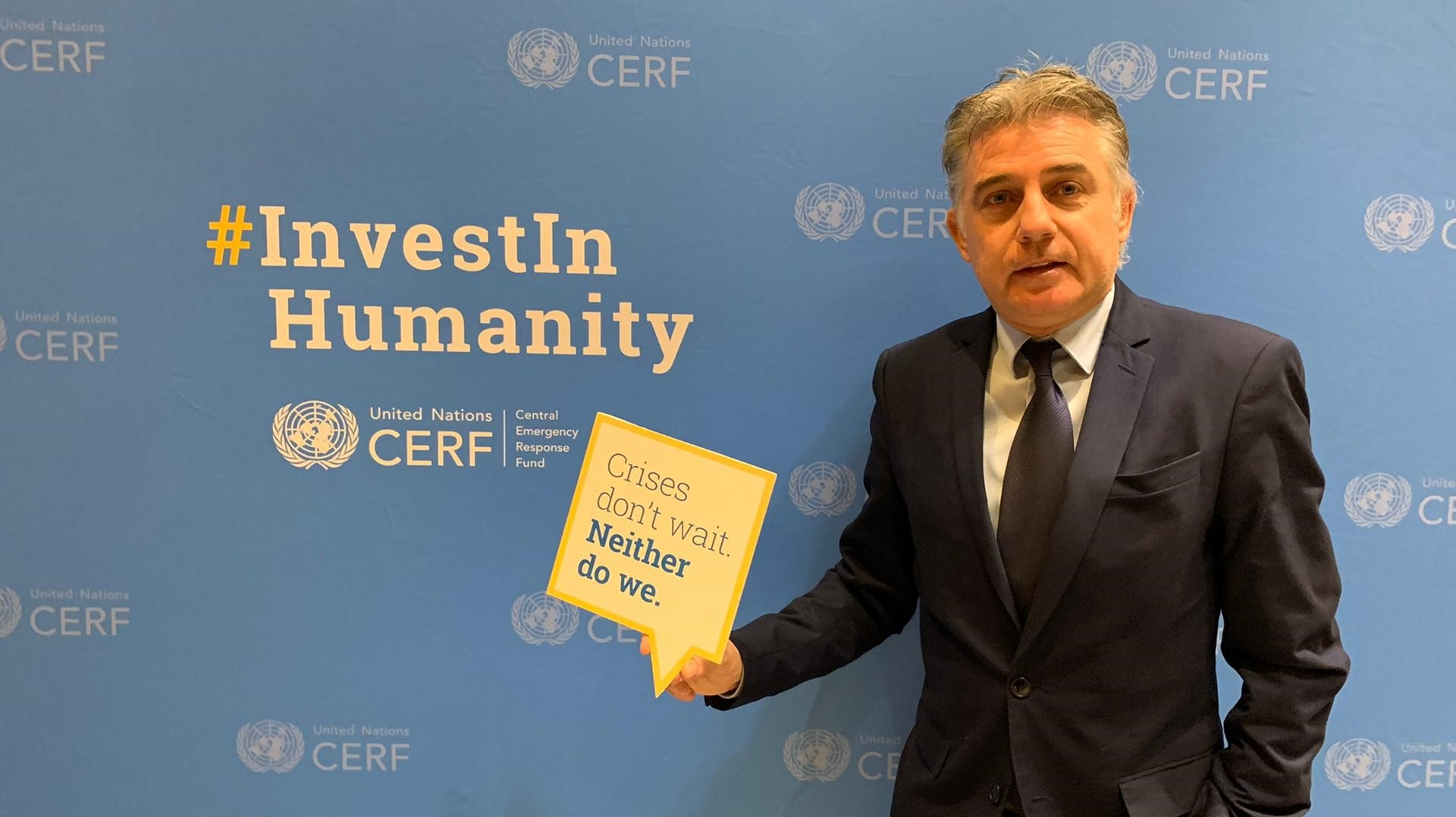 Yves Wantens - CERF pledging event 2019
