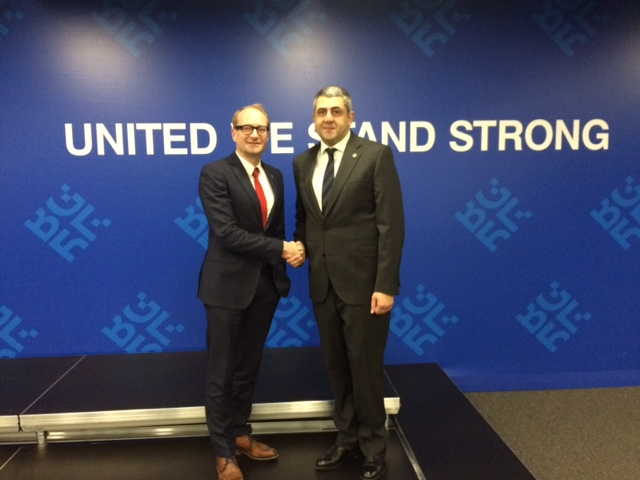 Minister Weyts and secretary general  Pololikashvili at informal meeting Tourism in Sofia